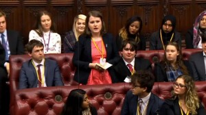 BHA representative Helen Chamberlain speaking in the Lords.