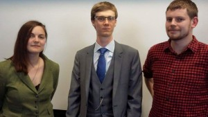 The new AHS Executive. From left-right: Caitlin Greenwood, Richard Acton, and Luke Dabin.